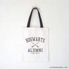 Hogwarts Alumni Tote Bag $9.99 ; Harry Potter Bag ; #HarryPotter #Geek Shop more items at http://kissmebangbang.com/product-category/harry-potter/