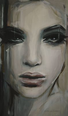 See beneath your beautiful - SOLD on Saatchi Online, a Acrylic on Aluminium by Hesther Van Doornum from Netherlands. It portrays: Nude, relevant to: beauty, woman, eyes, faces, lips Acrylic on linnen