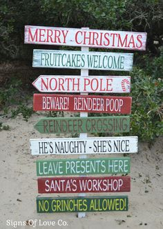 Christmas Decorations Custom Make Your Own Holiday Stake Outside Reclaimed Wood Holiday Wood Signs Outdoor Indoor Outside Decor Pallet Rustic Display Quotes Sayings Fun Custom Yard Porch Entry