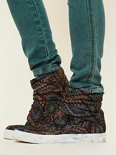 Jeffrey Campbell for Free People tapestry sneakers. Amazing!!!