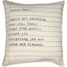 Sugarboo Designs Pillow Sweet Baby Letter SBPC128