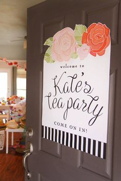 Darling tea party 3rd birthday party ideas!