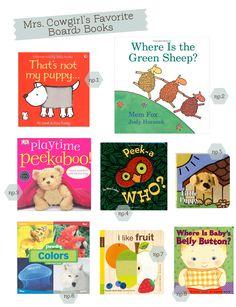 Mrs Cowgirl's Favorite Board Books via hellobee