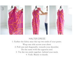 how to make a halter dress from a pareo