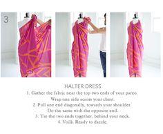 nouer un sarong en robe
