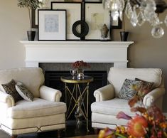 fireplace -- let's be honest that we don't use the fireplace and put some furniture in front of it?