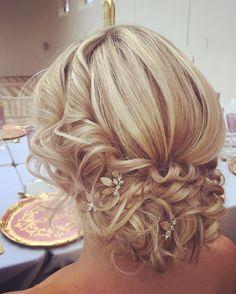 Wedding hair inspiration - soft romantic hair updo