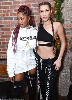 Gorgeous gals! Bella partied alongside Scream Queens star Keke Palmer, 23, who flashed her lean limbs in thigh high black boots