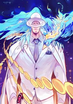 Whitebeard and Macro white suit and phoenix