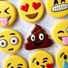 Diversión Emoji / galletas de emoticonos una por thesweetesttiers