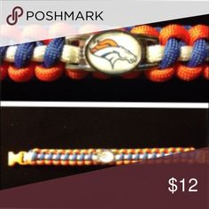 Denver Broncos Paracord Bracelet 14 year old Nathan has been making Paracord accessories since he was just 9 years old. This is a beautifully crafted bracelet with your favorite team's logo on the charm. Accessories Jewelry