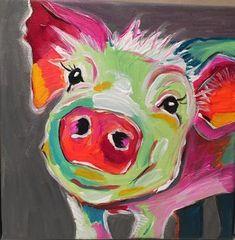 Claudia Weise, Schweinchen bunt , Acryl 20 x 20zur Zeit nicht verfügbar