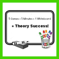 5 games to teach piano theory on a white board... perfect for those final 5 minutes of a lesson!