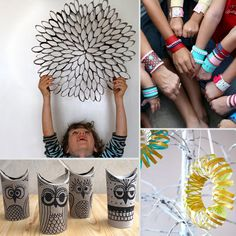 9 Crafts you can make with toilet paper rolls