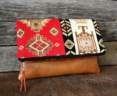 Ethnic Tribal Style Upholstery Foldover Clutch / by SweetPeaTotes