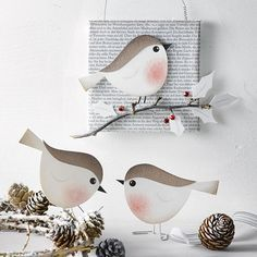 Bird Crafts, Easter Crafts, Fun Crafts, Diy And Crafts, Crafts For Kids, Arts And Crafts, Winter Art Projects, Paper Birds, Spring Crafts