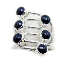 Black Onyx 925 Sterling Silver Ring attractive Black supplies AU KMOQ - Gift for women and girls, wedding