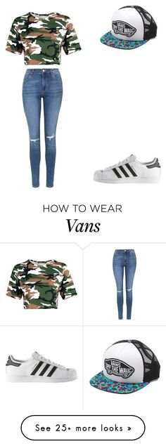 """""""Untitled #453"""" by azeneth10 on Polyvore featuring Topshop, adidas and Vans"""