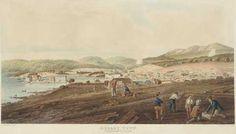 Hobart Town, Van Diemen's Land, 1811-1837, by RG Reeve. National Library of Australia.