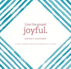 Dieter F. Uchtdorf | General Women's Meeting September 2014 #gospel #happiness #joyful