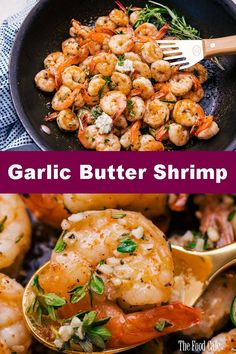 Garlic Butter Shrimp are so easy and delicious to make you will find a reason to have them as often as you can. Sautéed in herbs, garlic and butter and ready to eat in 15 minutes or less. Frozen Cooked Shrimp, Frozen Shrimp Recipes, Cooked Shrimp Recipes, Fish Recipes, Seafood Recipes, Healthy Recipes, Simple Shrimp Recipes, Recipies, Steak And Shrimp