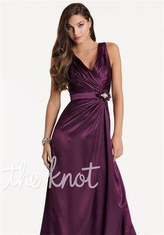 7550de617 Jordan 530 DRESS DETAILS Dress also available in Junior sizes 4-16.  Silhouette: A-Line Neckline: V-Neck Gown Length: Floor, Short Fabric:  Charmeuse Color: ...