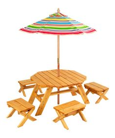 Take a look at this Octagon Table Set by KidKraft on #zulily today! $149.99