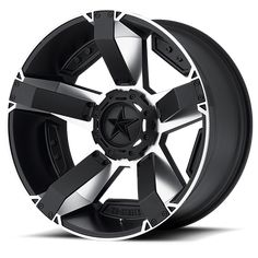 KMC Wheels : Rockstar: XD811 RS2 Machined Face w/ S-Blk Windows