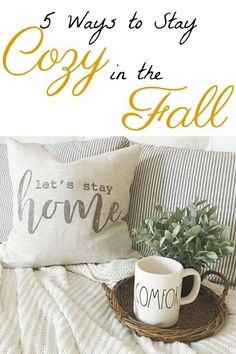 Fall is a season of creating a feeling of warmth and comfort. As the cool weather is approaching, I'm sharing 5 ways to stay cozy in the fall. #homeimprovementseason5,