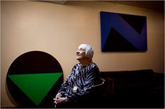 After six decades of very private painting, carmen herrera, cuban-born artist, sold her first artwork five years ago at age 89.  She is now 96 with works in the collections of MoMA and Tate Modern.