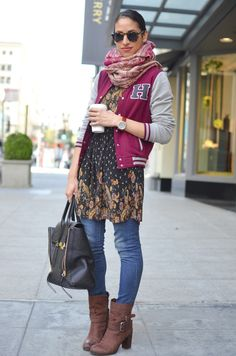 Wear a dress over pants - http://fabyoubliss.com/2014/07/24/13-wearable-fashion-trends-for-fall-2014