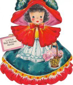 Vintage 1947 Hallmark Little Red Riding Hood.