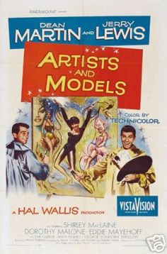 Old Movie Poster. Martin and Lewis. Artists and Models. I grew up on a diet of old movies and I LOVE Martin and Lewis. :)