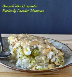 Cheesy Rice and Broccoli Casserole