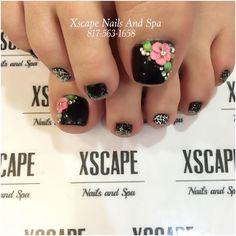 Pedicure Nail Art, Pedicure Designs, Toe Nail Designs, Manicure, Toe Nail Art, Toe Nails, Acrylic Nail Shapes, Sassy Nails, Nail Designs Pictures