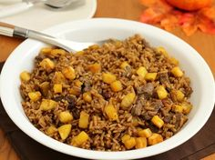 Rice with Beans and Sweet Plantain - QueRicaVida.com