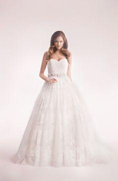 Bridal Gowns: Alita Graham Princess/Ball Gown Wedding Dress with Sweetheart Neckline and Natural Waist Waistline