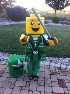 Lego Ninjago Green Ninja Cosplay Lego Halloween, Cute Halloween Costumes, Halloween 2019, Holidays Halloween, Boy Costumes, Diy Ninja Costume, Lego Costume, Lego Party Decorations, Lego Kai
