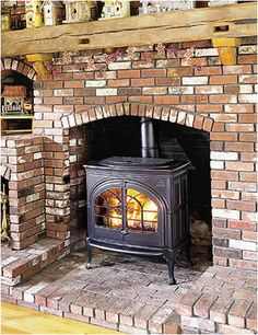 Wood Stove For Fireplace - Spring is finally here. So the hearth season is winding down. Wood Burning Stove Insert, Wood Stove Surround, Wood Stove Hearth, Wood Burner, Corner Wood Stove, Inglenook Fireplace, Open Fireplace, Stove Fireplace, Fireplace Mantels