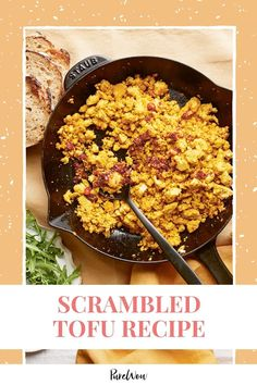 Dabbling in a plant-based diet? You'll want a good recipe for scrambled tofu, a vegan riff on scrambled eggs. #scrambled #tofu #recipe Tofu Recipes, Vegan Dinner Recipes, Vegan Breakfast Recipes, Dairy Free Recipes, Vegan Dinners, Breakfast Ideas, Scrambled Tofu Recipe, Scrambled Eggs, Easy Healthy Breakfast