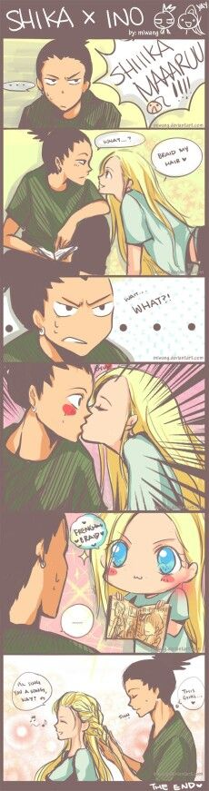 Shika x ino 2 - again, not a big fan of this pairing, but it's still cute  <3