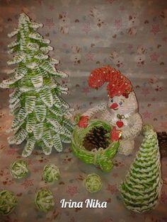 Плетение из газет Christmas Ornaments, Holiday Decor, Home Decor, Braid, Decoration Home, Room Decor, Christmas Jewelry, Christmas Decorations, Home Interior Design