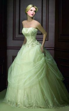 Green Wedding Dress green