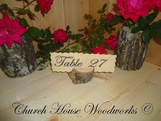 25 table number holders rustic place card by ChurchHouseWoodworks, $23.95