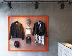 Creative Retail Store Design Using OSB and Tile – Design Milk - Boutique Interior, Clothing Store Interior, Clothing Store Design, Designer Clothing, Bg Design, Display Design, Tile Design, Interior Design, Visual Merchandising