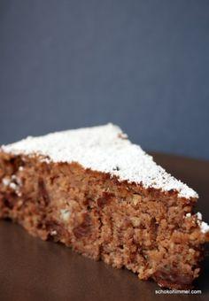 Nuss-Maroni-Kuchen mit Schokolade nutty, chocolaty: chestnut cake without flour - chocolate heaven Paleo Dessert, Gluten Free Baking, Healthy Baking, Healthy Food, Cheesecakes, Cake Recipes, Dessert Recipes, Desserts, Best Cake Ever