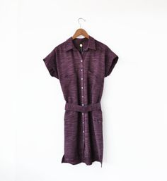Image of Feral Childe Khadi Raisin Nova Shirtdress