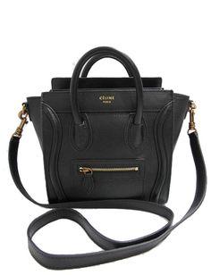 Celine Black Nano Luggage Tote Celine Nano Bag 76eba8307e5e7