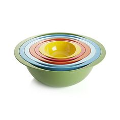 Set of 6 Nesting Bowls.   Crate and Barrel