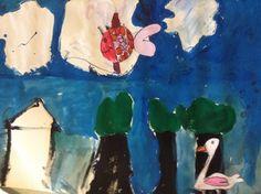 ABK Mortsel - opdracht geschilderd landschap met dier